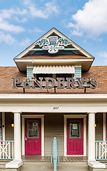 Exterior of Pendery's World of Chiles & Spices Fort Worth Store, Fort Worth, Texas USA.
