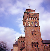 Clock tower, Cardiff castle, Wales