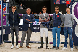 Philippaerts Anthony, Ludo, Olivier, Nicola, Thibault<br /> LONGINES FEI World Cup™ Finals Paris 2018<br /> © Hippo Foto - Stefan Lafrentz<br /> 15/04/2018