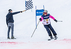26.01.2019, Streif, Kitzbühel, AUT, FIS Weltcup Ski Alpin, KitzCharityTrophy, im Bild v.l. Sebastian Vettel, Martina Ertl (KITZ Hahnenkamm) // f.l. Sebastian Vettel Martina Ertl (KITZ Hahnenkamm) during the KitzCharityTrophy at the Streif in Kitzbühel, Austria on 2019/01/26. EXPA Pictures © 2019, PhotoCredit: EXPA/ Stefan Adelsberger
