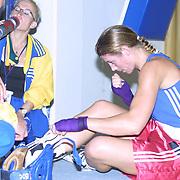2. WOMEN'S WORLD BOXING CHAMPIONSHIPS.<br /> Swede's Laurel Anna (R) after the match. Dilek Sabanci Sport Hall Antalya/Turkey<br /> Photo by Aykut AKICI/TurkSporFoto