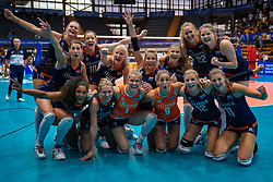02-08-2019 ITA: FIVB Tokyo Volleyball Qualification 2019 / Belgium - Netherlands, Catania<br /> 1e match pool F in hall Pala Catania between Belgium - Netherlands. Netherlands win 3-0 / Team NL