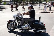 Motorcyclist in Bellavista, Santiago, Chile