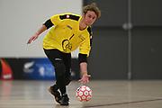 Central keeper Liam Percy-Fysh in the Mens Futsal Superleague match, Central v Capital, Pettigrew Green Arena, Napier, Saturday, September 28, 2019. Copyright photo: Kerry Marshall / www.photosport.nz