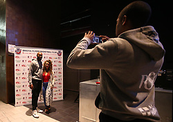 Brandon Boggs has a picture taken with a fan by Rohndell Goodwin  at the Bristol Flyers 2017/18 launch event at Ashton Gate - Mandatory by-line: Robbie Stephenson/JMP - 11/09/2017 - BASKETBALL - Ashton Gate - Bristol, England - Bristol Flyers 2017/18 Season Launch