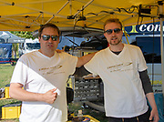 Plovdiv, Bulgaria, {DATE, }FISA, Rowing World Cup 1,  Empacher, Service team, Boatbuilder, Julian ANASTASOW, GER, left, with colleague Simon, right, [© Karon PHILLIPS/ Intersport Images]
