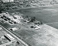 1921 Aerial of Hollywood Studios on Santa Monica Blvd.