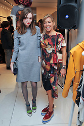 Left to right, VALENTINE FILLOL-CORDIER and MAIA NORMAN at the Mother of Pearl Launch at The Other Criteria, 36 New Bond Street, London W1 on 12th April 2011.