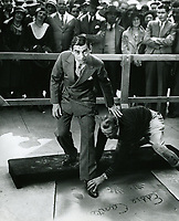1932 Eddie Cantor's hand/footprint ceremony at the Chinese Theatre