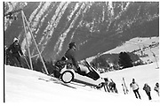 David Kirke, Dangerous Sports club ski race, St. Moritz. 1985. © Copyright Photograph by Dafydd Jones 66 Stockwell Park Rd. London SW9 0DA Tel 020 7733 0108 www.dafjones.com