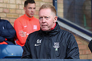 Southend United caretaker manager Gary Waddock prior to kick off during the EFL Sky Bet League 1 match between Southend United and AFC Wimbledon at Roots Hall, Southend, England on 12 October 2019.