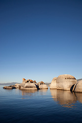 """""""Boulders at Lake Tahoe 1"""" - These boulders were photographed early in the morning at Lake Tahoe, near Speed Boat Beach."""