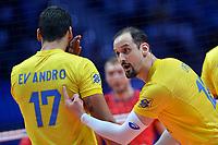 Like and Evandro of Brazil<br /> Torino 29-09-2018 Pala Alpitour <br /> FIVB Volleyball Men's World Championship <br /> Pallavolo Campionati del Mondo Uomini <br /> Semifinal<br /> Brasile - Serbia / Brazil - Serbia<br /> Foto Antonietta Baldassarre / Insidefoto