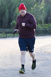 © Licensed to London News Pictures. 29/04/2021. London, UK. Prime Minister Boris Johnson jogs in Westminster.  Photo credit: George Cracknell Wright/LNP