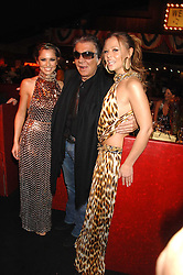 Left to right, CHERYL COLE, ROBERTO CAVALLI and KIMBERLEY WALSH at the London Red Cross Ball themed 'Honky Tonk Blues' held at 99 Upper Ground, London SE1 on 21st November 2007.<br />
