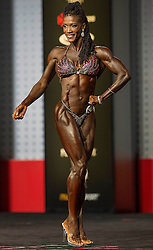 Sept.16, 2016 - Las Vegas, Nevada, U.S. -  CAROLYN HUDSON HARRIS competes in the Figure Olympia contest during Joe Weider's Olympia Fitness and Performance Weekend.(Credit Image: © Brian Cahn via ZUMA Wire)