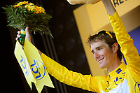 CYCLING - TOUR DE FRANCE 2010 - REVEL (FRA) - 17/07/2010 - PHOTO : VINCENT CURUTCHET / DPPI - <br /> STAGE 13 - RODEZ > REVEL - ANDY SCHLECK (LUX) / SAXO BANK  / YELLOW JERSEY