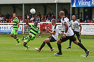 Forest Green Rovers Drissa Traore (4) attempts to control the ball during the Vanarama National League match between Dover Athletic and Forest Green Rovers at Crabble Athletic Ground, Dover, United Kingdom on 10 September 2016. Photo by Shane Healey.