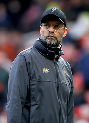 Liverpool manager Jurgen Klopp at the end of the Premier League match at Old Trafford, Manchester.