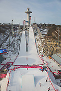The mens snowboard big air qualification at the Pyeongchang 2018 Winter Olympics on February 21st 2018, at the Alpensia Ski Jumping Centre in Pyeongchang-gun, South Korea