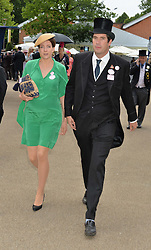 The HON.ARTHUR VESTEY and his wife MARTHA at day two of the Royal Ascot 2016 Racing Festival at Ascot Racecourse, Berkshire on 15th June 2016.