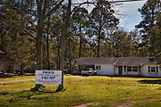 Front yard of Trump supporter with the sign, Proud To Be A Deplorable on 28th February 2020 in Ville Platte, Louisiana, United States. The sign is a reference to Hillary Clinton calling some Trump supporters a basket of deplorables during the 2016 election campaign. The expression backfired and is now used as a Republican rallying cry.