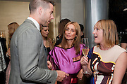 JAMIE REDKNAPP; LOUISE REDKNAPP; SIAN CONNEL, The Tomodachi ( Friends) Charity Dinner hosted by Chef Nobu Matsuhisa in aid of the Unicef  Japanese Tsunami Appeal. Nobu Berkeley St. London. 5 May 2011. <br /> <br />  , -DO NOT ARCHIVE-© Copyright Photograph by Dafydd Jones. 248 Clapham Rd. London SW9 0PZ. Tel 0207 820 0771. www.dafjones.com.