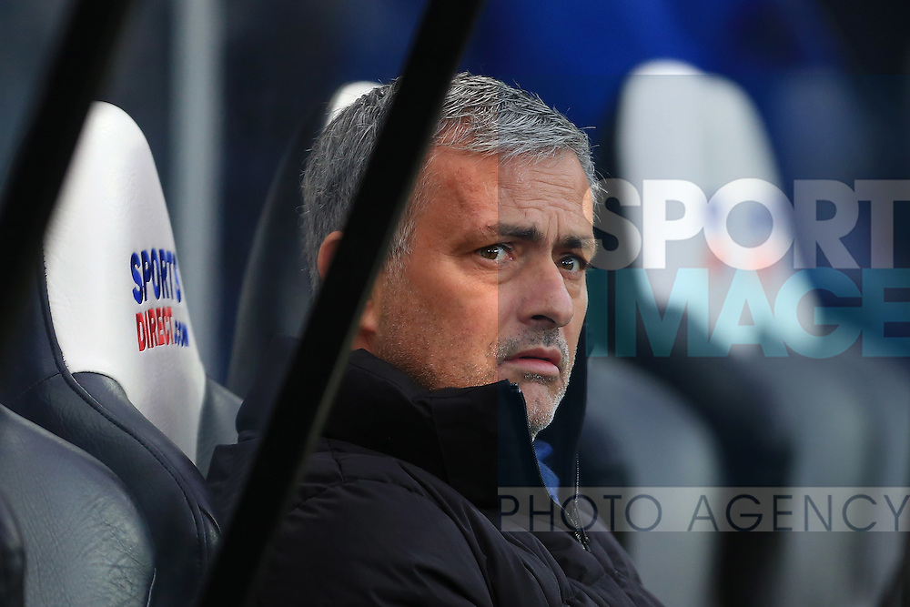 Manager of Chelsea, Jose Mourinho looks worried - Newcastle United vs. Chelsea - Barclay's Premier League - St James' Park - Newcastle- 06/12/2014 Pic Philip Oldham/Sportimage