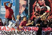Protesters Fight for Home during International Film Festival of Rome<br /> 15 ottobre 2013 . Daniele Stefanini /  OneShot