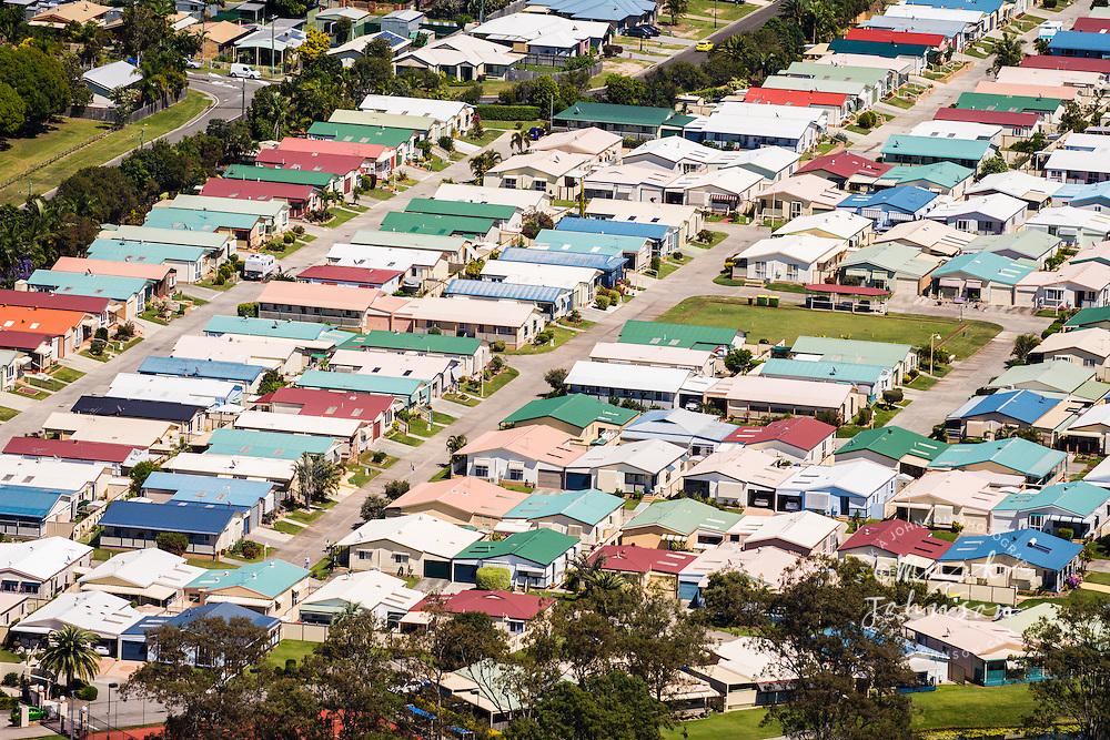 Suburban homes at Deception Bay,  Queensland, Australia