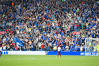 Football - 2017 / 2018 Championship - Cardiff City vs. Aston Villa<br /> <br /> <br /> John Terry of Aston Villa in front of Cardiff fans as they celebrate their 3d goal, at Cardiff City Stadium<br /> <br /> COLORSPORT/WINSTON BYNORTH