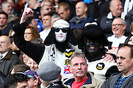 Derby county fans dressed as rams prior to kick off. Skybet football league Championship match, Huddersfield Town v Derby county at the John Smith's Stadium in Huddersfield , Yorkshire on Saturday 24th October 2015.<br /> pic by Chris Stading, Andrew Orchard sports photography.