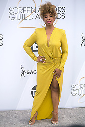 January 27, 2019 - Los Angeles, California, U.S - Tanika Ray at the red carpet of the 25th Annual Screen Actors Guild Awards held at the Shrine Auditorium in Los Angeles, California, Sunday January 27, 2019. (Credit Image: © Prensa Internacional via ZUMA Wire)