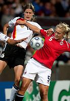 Fotball<br /> EM 2009 kvinner<br /> Semifinale<br /> Tyskland v Norge<br /> Foto: Jussi Eskola/Digitalsport<br /> NORWAY ONLY<br /> <br /> Anneli Giske<br /> Kerstin Garefrekes