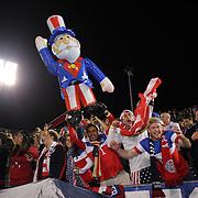 Fans cheer Landon Donovan, USA, after his farewell match during the USA Vs Ecuador International match at Rentschler Field, Hartford, Connecticut. USA. 10th October 2014. Photo Tim Clayton
