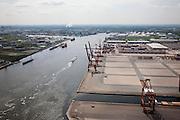 Nederland, Amsterdam, Westpoort, 25-05-2010. Amerikahaven met Ceres Paragon container terminal, gelegen aan het Noorzeekanaal.luchtfoto (toeslag), aerial photo (additional fee required).foto/photo Siebe Swart