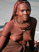 A woman of the Himba Tribe, a small ethnic group of Namibia
