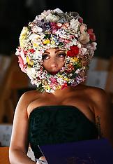 Lady Gaga at Philip Treacy  fashion show 16-9-12