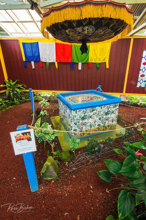 Buddhist Sand Mandala, Paleaku Gardens Peace Sanctuary, Kona Coast, The Big Island, Hawaii USA
