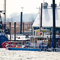 The port of Belford NJ was iced over after an extended period of sub freezing temperatures. The severe icing over much of New York Harbor creating issues for commuter ferries and commercial marine traffic.