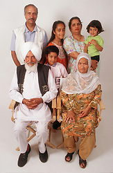 Family group with three generations,