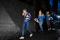 February 22, 2019 - Seefeld In Tirol, AUSTRIA - 190222 Silver medalist Stina Nilsson of Sweden, gold medalist Maiken Caspersen Falla of Norway and bronze medalist Mari Eide of Norway leave the medal ceremony for women´s cross-country skiing sprint during the FIS Nordic World Ski Championships on February 22, 2019 in Seefeld in Tirol..Photo: Joel Marklund / BILDBYRÃ…N / kod JM / 87883 (Credit Image: © Joel Marklund/Bildbyran via ZUMA Press)