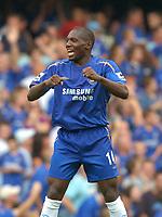 Photo: Henry Browne.<br /> Chelsea v Sunderland. The Barclays Premiership.<br /> 10/09/2005.<br /> Geremi celebrates after scoring the first goal for Chelsea.