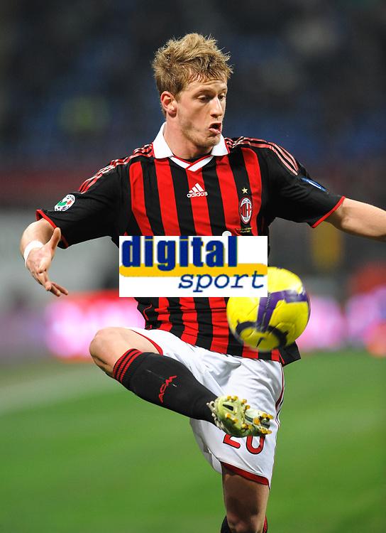 Fotball<br /> Italia<br /> Foto: Inside/Digitalsport<br /> NORWAY ONLY<br /> <br /> Ignazio ABATE Milan<br /> <br /> 06.01.2010<br /> Milan v Genoa 5-2