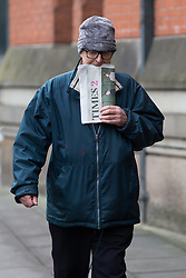 © Licensed to London News Pictures . Manchester , UK . FILE PICTURE DATED 5/12/2014 as today (11 December 2014) Ray Teret has been sentenced to 25 years in prison . RAY TERET ( Jimmy Savile's former driver and flatmate ) arrives at Manchester's Minshull Street Crown Court for the final time as a free man prior to being remanded in custody following conviction of historical sex offences , namely 7 rapes and 11 indecent assaults , against 11 victims . Photo credit : Joel Goodman/LNP