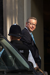 Downing Street, London, May 17th 2016. Justice Secretary Michael Gove arrives at the weekly cabinet meeting in Downing Street.