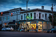Downtown drugstore in the evening on 3rd March 2020 in Selma, Alabama, United States. Selma is the main town of Dallas County which has one of the highest rates of poverty in Alabama and one of the most economically depressed towns in America. It was known as the Queen of the Black Belt for its rich soil that proved ideal for highly profitable cotton growing and extended the years of slave labour after the slave trade had been outlawed. Now it struggles with joblessness, drugs and disenfranchisement.