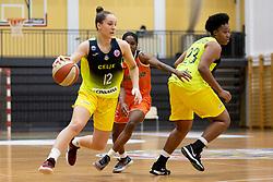 Zala Friskovec of ZKK Cinkarna Celje in action during basketball match between ZKK Cinkarna Celje (SLO) and MBK Ruzomberok (SVK) in Round #6 of Women EuroCup 2018/19, on December 13, 2018 in Gimnazija Celje Center, Celje, Slovenia. Photo by Urban Urbanc / Sportida