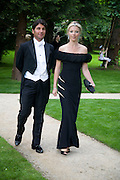 GEORGE VERONI AND TAMARA BECKWITH, Raisa Gorbachev Foundation Party, at the Stud House, Hampton Court Palace on June 7, 2008 in Richmond upon Thames, London,Event hosted by Geordie Greig and is in aid of the Raisa Gorbachev Foundation - an international fund fighting child cancer.  7 June 2008.  *** Local Caption *** -DO NOT ARCHIVE-© Copyright Photograph by Dafydd Jones. 248 Clapham Rd. London SW9 0PZ. Tel 0207 820 0771. www.dafjones.com.