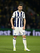 WBA's Gareth McAuley in action during the Premier League match at Vicarage Road Stadium, London. Picture date: April 4th, 2017. Pic credit should read: David Klein/Sportimage